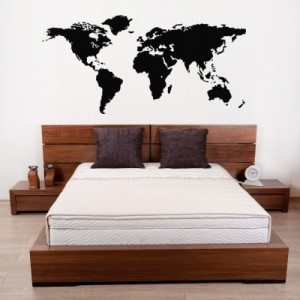 Wallsticker verdenskort